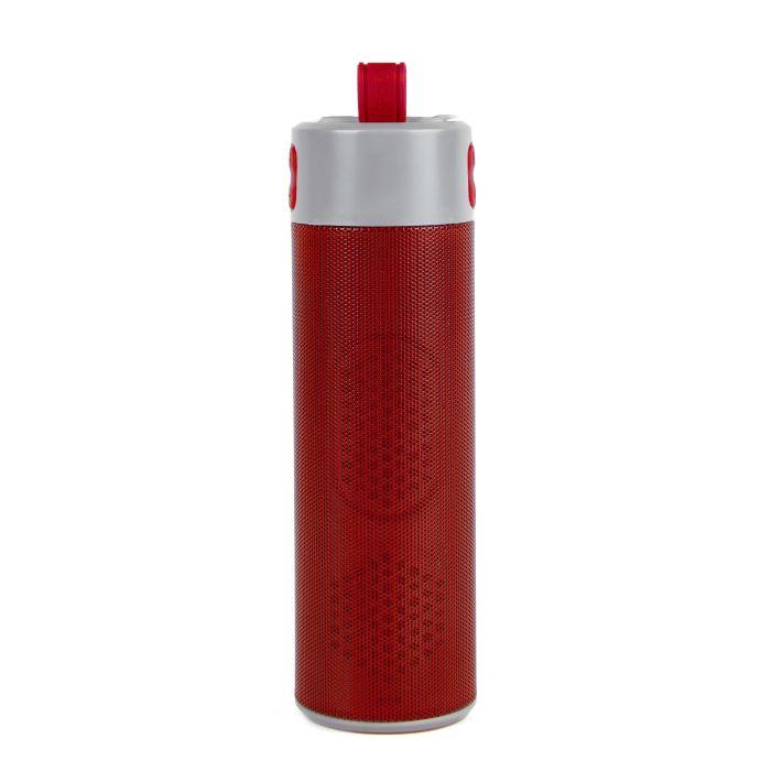 """Bluetooth колонка с зарядным устройством (2000mAh) и моноподом """"Turbo Tube"""", цвет красный"""