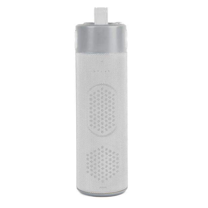 """Bluetooth колонка с зарядным устройством (2000mAh) и моноподом """"Turbo Tube"""", цвет белый"""