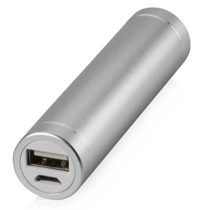 """Портативное зарядное устройство """"Олдбери"""", 2200 mAh, цвет серебристый"""