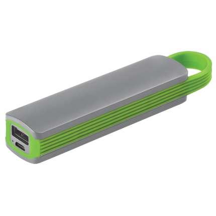 """Универсальное зарядное устройство """"Fancy"""" (2200mAh), серое с зелёным"""