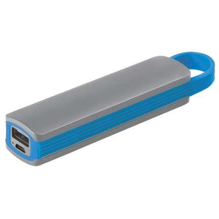 """Универсальное зарядное устройство """"Fancy"""" (2200mAh), серое с голубым"""