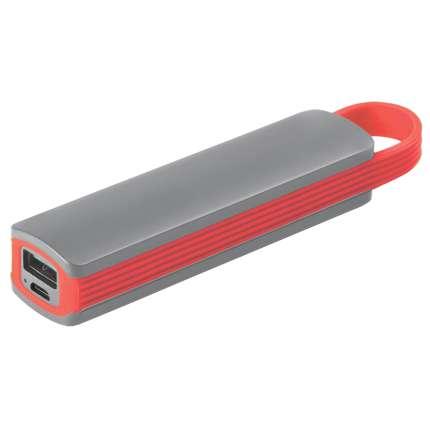 """Универсальное зарядное устройство """"Fancy"""" (2200mAh), серое с красным"""