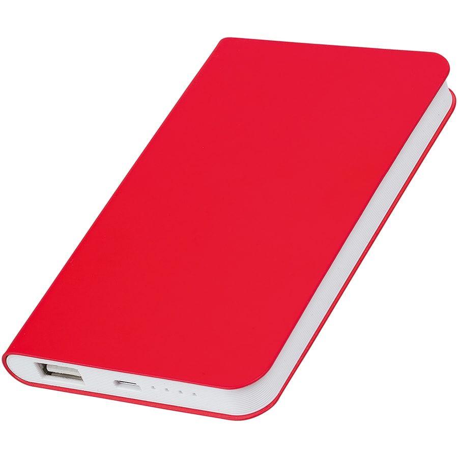 """Универсальное зарядное устройство """"Silki"""" (4000mAh), цвет красный"""