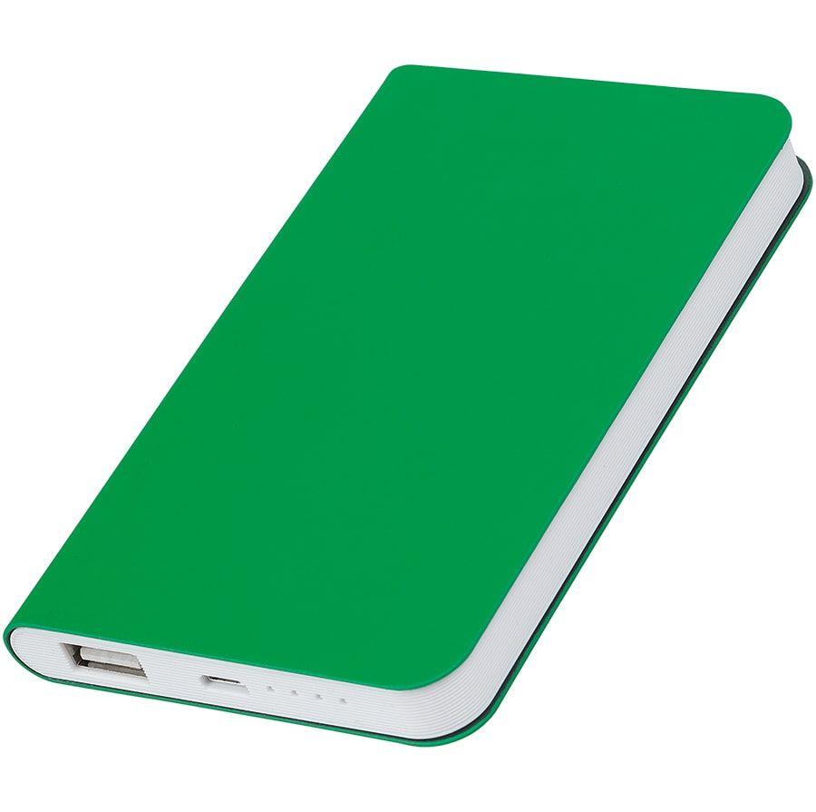 """Универсальное зарядное устройство """"Silki"""" (4000mAh), цвет зелёный"""