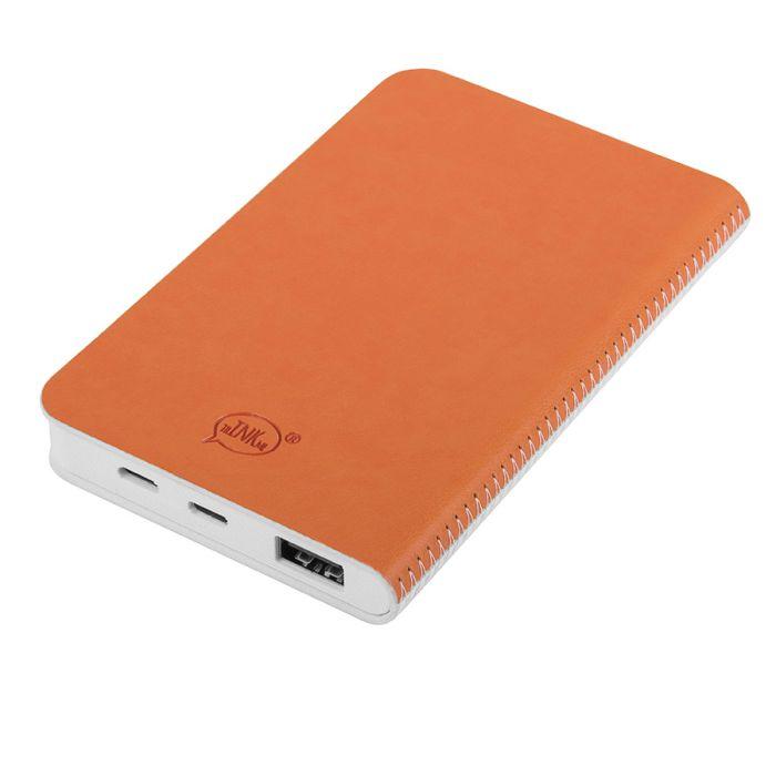 """Универсальное зарядное устройство """"Franki"""" (4000mAh), цвет белый с оранжевым"""