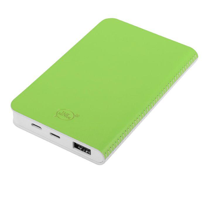 """Универсальное зарядное устройство """"Franki"""" (4000mAh), цвет белый с зелёным"""