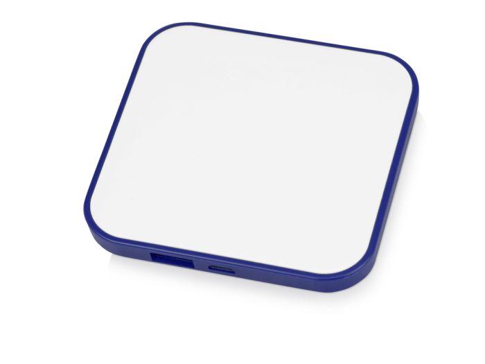 """Портативное зарядное устройство """"Квадрум"""", 2600 mAh, цвет белый с синим"""