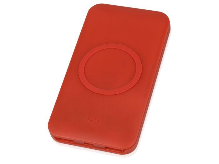 """Портативное беспроводное зарядное устройство """"Impulse"""", 4000 mAh, цвет красный"""