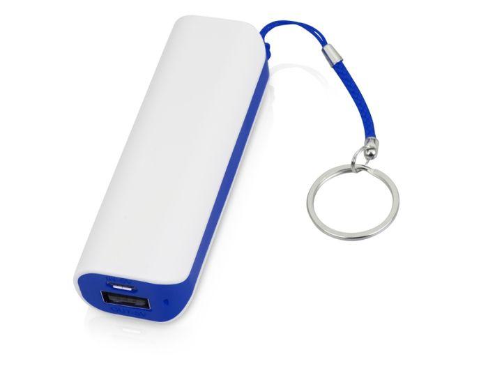 """Портативное зарядное устройство """"Basis"""", 2000 mAh, цвет белый с синим"""