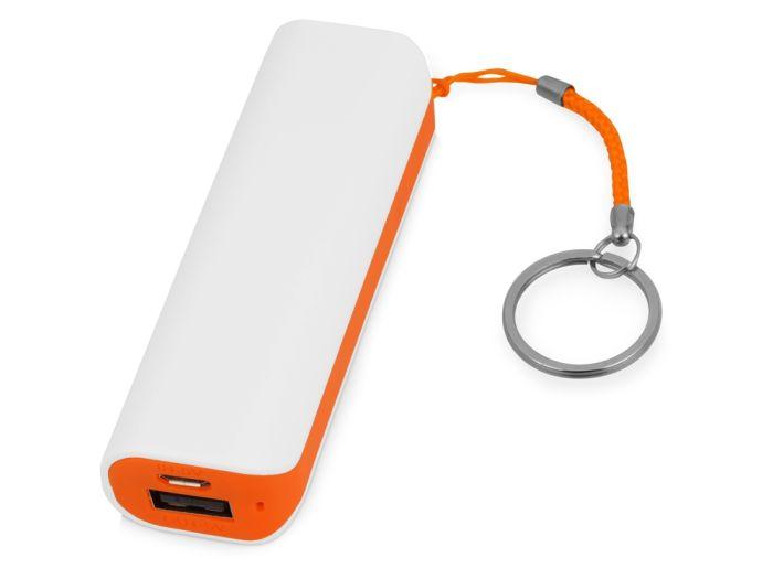 """Портативное зарядное устройство """"Basis"""", 2000 mAh, цвет белый с оранжевым"""