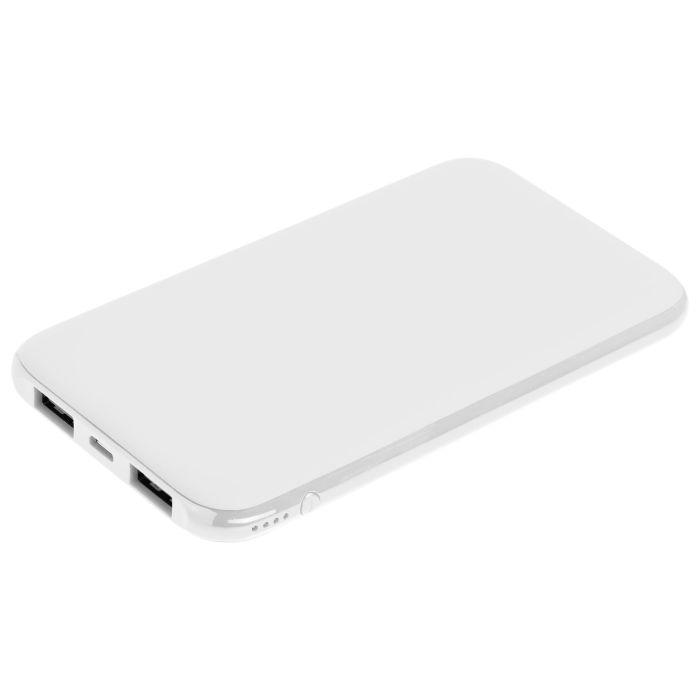 Внешний аккумулятор Uniscend Half Day Compact 5000 мAч, с покрытием SOFT TOUCH, белый