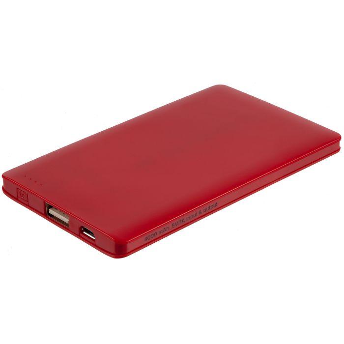 Внешний аккумулятор Easy Trick, 4000 мАч, красный