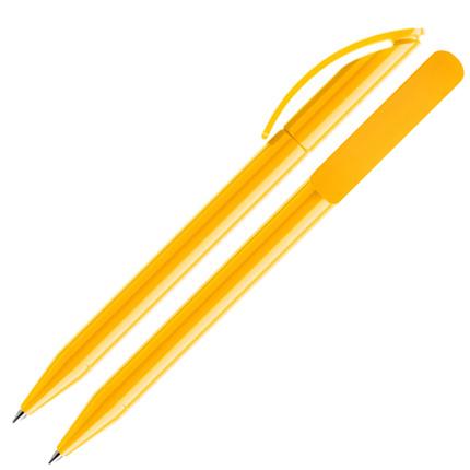 Ручка шариковая Prodir, модель DS3 TPP, цвет жёлтый