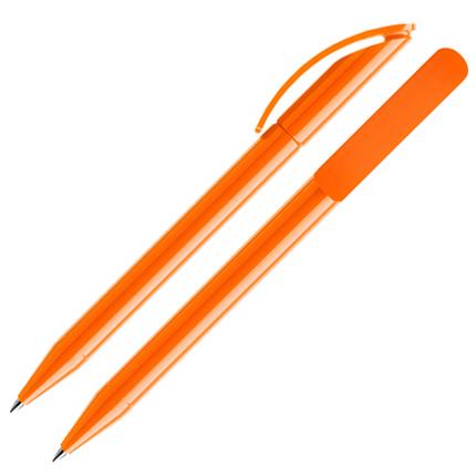 Ручка шариковая Prodir, модель DS3 TPP, цвет оранжевый