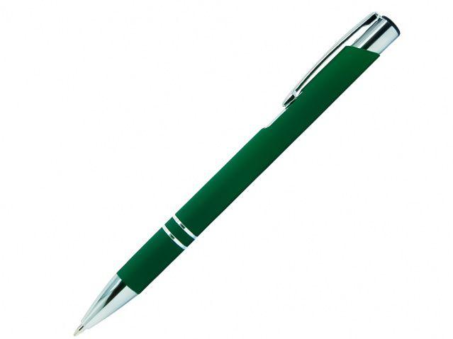 Ручка шариковая металлическая, коллекция COSMO с покрытием SOFT TOUCH, цвет тёмно-зелёный
