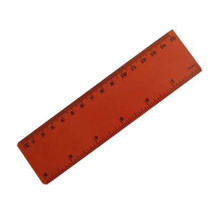 Линейка 15см, цвет красный