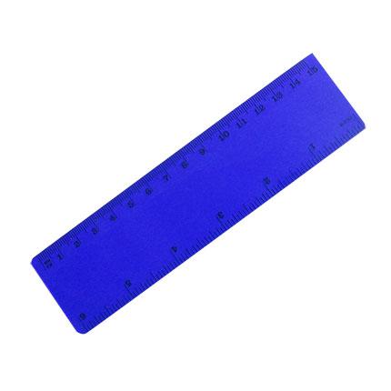 Линейка 15см, цвет синий