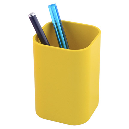 """Подставка-стакан для пишущих принадлежностей """"Quadro"""", цвет жёлтый"""