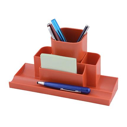 """Настольный органайзер со съемным стаканом для пишущих принадлежностей и канцелярских мелочей """"Quadro"""", цвет красный"""