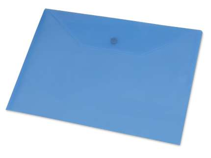 Папка-конверт А4, синяя