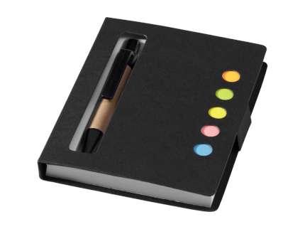 """Набор стикеров """"Reveal"""" с ручкой и блокнотом А7, чёрный"""