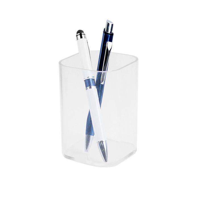 """Подставка-стакан для пишущих принадлежностей """"Quadro"""", цвет прозрачный"""