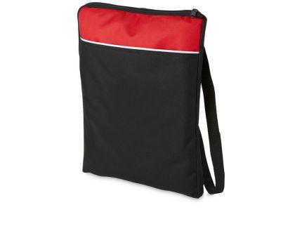 """Сумка для документов """"Miami"""", цвет красный с черным"""