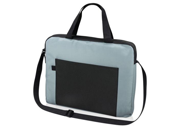 """Конференц сумка для документов """"Congress"""", цвет чёрный с серым"""