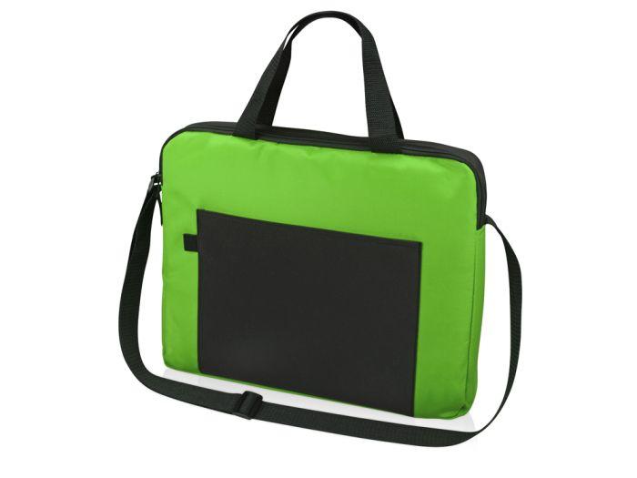 """Конференц сумка для документов """"Congress"""", цвет чёрный с зелёным"""