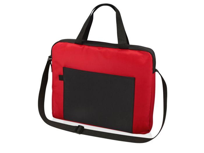 """Конференц сумка для документов """"Congress"""", цвет чёрный с красным"""