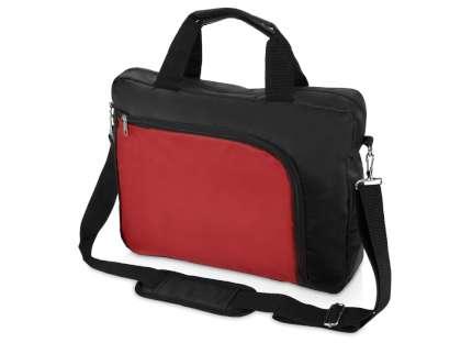 """Сумка для ноутбука """"Quick"""", 15,6 дюймов, цвет чёрный с красным"""