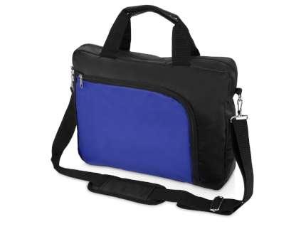 """Сумка для ноутбука """"Quick"""", 15,6 дюймов, цвет чёрный с синим"""