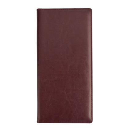 Папка для счета, материал Nebraska,  размер 10,5х23x1 см, цвет бордовый