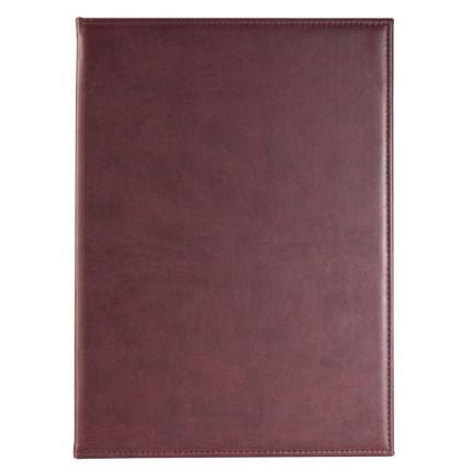 Папка адресная, материал BRAND,  размер 22,5х31 см (формат A4), цвет бордовый