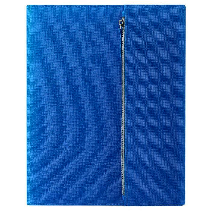"""Папка А4 """"PATRIX"""" с блокнотом и карманом на молнии, синяя"""