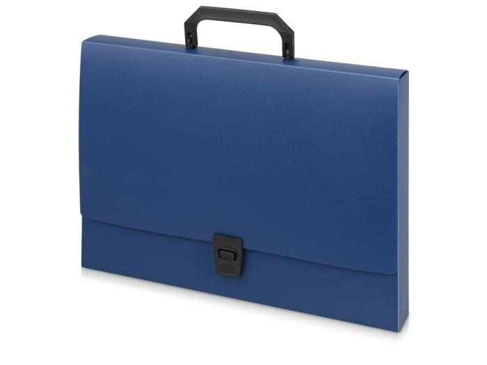 Папка-портфель А4, цвет синий