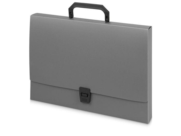 Папка-портфель А4, цвет серый