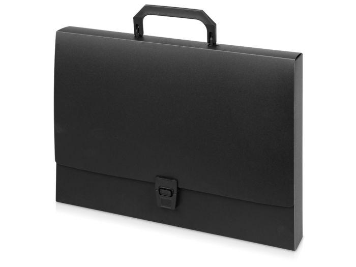 Папка-портфель А4, цвет чёрный