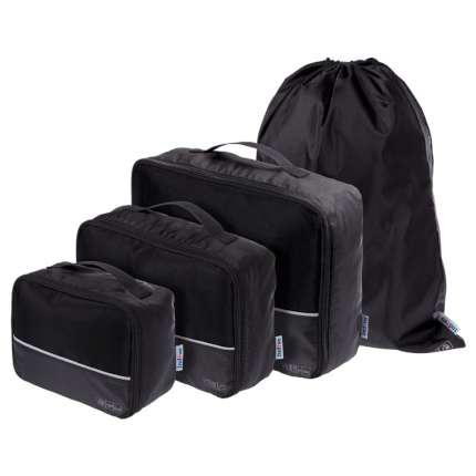 """Дорожный набор сумок """"noJumble"""" 4 в 1, чёрный"""
