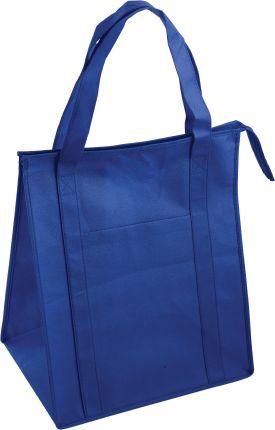 Сумка для покупок на молнии, цвет синий
