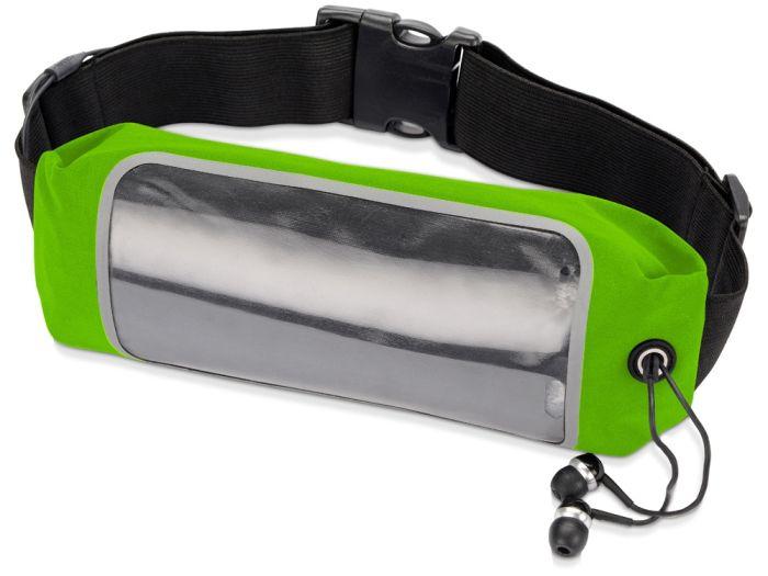 """Сумка на пояс """"Спринт"""", цвет зелёное-яблоко/чёрный/прозрачный"""
