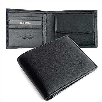 Бумажник мужской Neri Karra с отделением для монет, цвет чёрный. Корпоративная коллекция