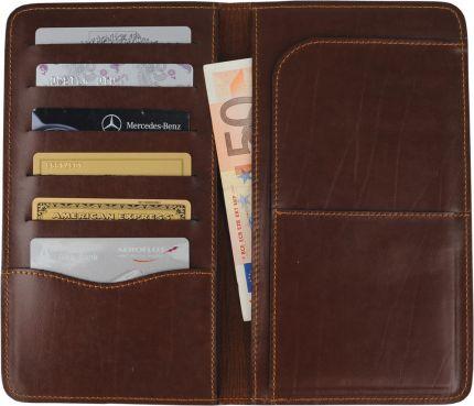 Трэвел-портмоне Alessandro Venanzi, цвет коричневый