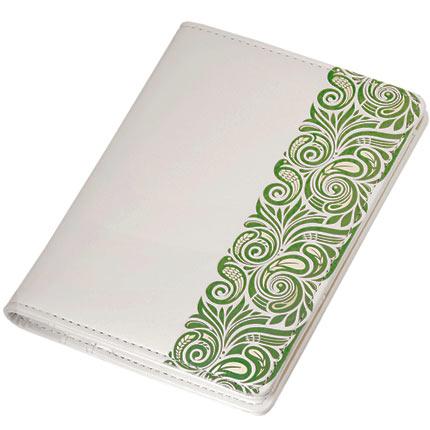 Обложка для документов, Portobello Trend, коллекция Russia, размер 105х142 мм, цвет белый с зелёным