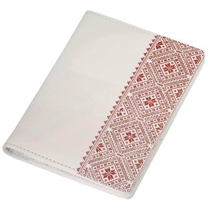 Обложка для документов, Portobello Trend, коллекция Russia, размер 105х142 мм, цвет белый с красным