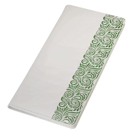 Тревеллер, Portobello Trend, коллекция Russia, размер 120x240 мм, с отделенияи для документов и кредитных карт, цвет белый с зелёным