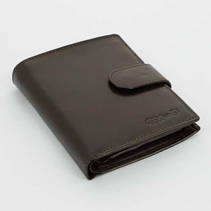 Портмоне S.Quire с застёжкой на кнопке, цвет коричневый