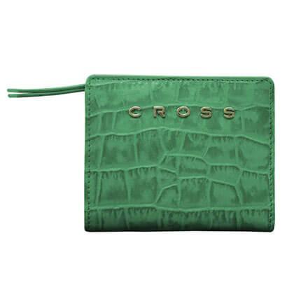"Кошелек ""Cross Bebe Coco"" цвет зелёный с жёлтым, размер 11,2х9,4х2 см"