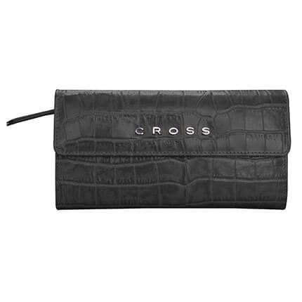 """Кошелек """"Cross Bebe Coco"""" цвет чёрный с розовым, размер 19,5х10,2х2,5 см, с карманом для телефона"""