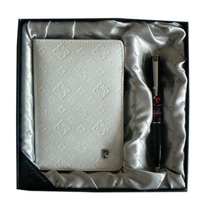 Набор: обложка для паспорта и ручка, цвет белый